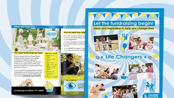 A guide dogs fundraising pack