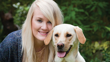 Guide dog owner Lynette with her guide dog Pippa