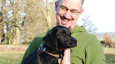 Jack with guide dog puppy John