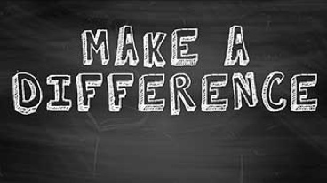 Make a difference written on a blackboard